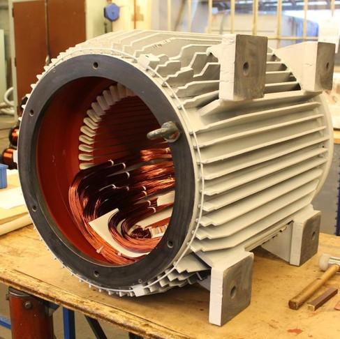 Bobinage d'un stator 160kW
