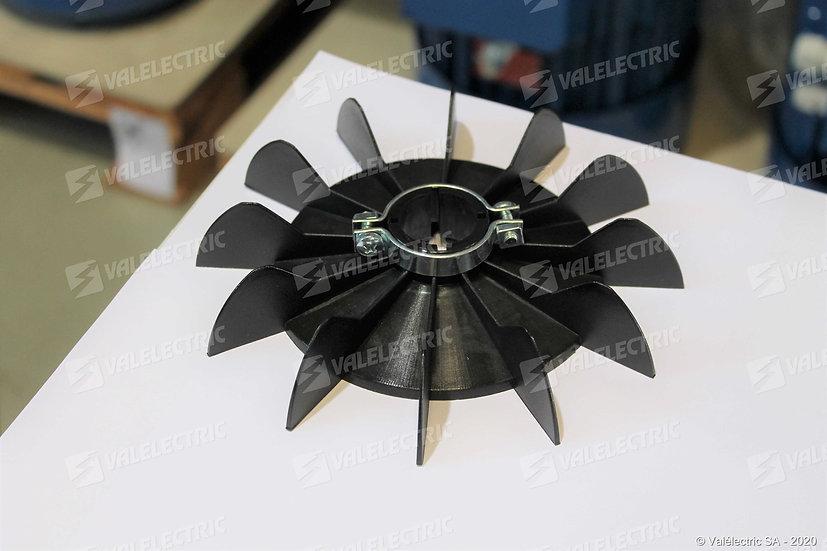 Hélice de ventilation avec collier de serrage - Axe ø14mm - Ext ø134mm
