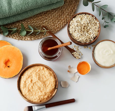 Homemade body care natural cosmetic prod