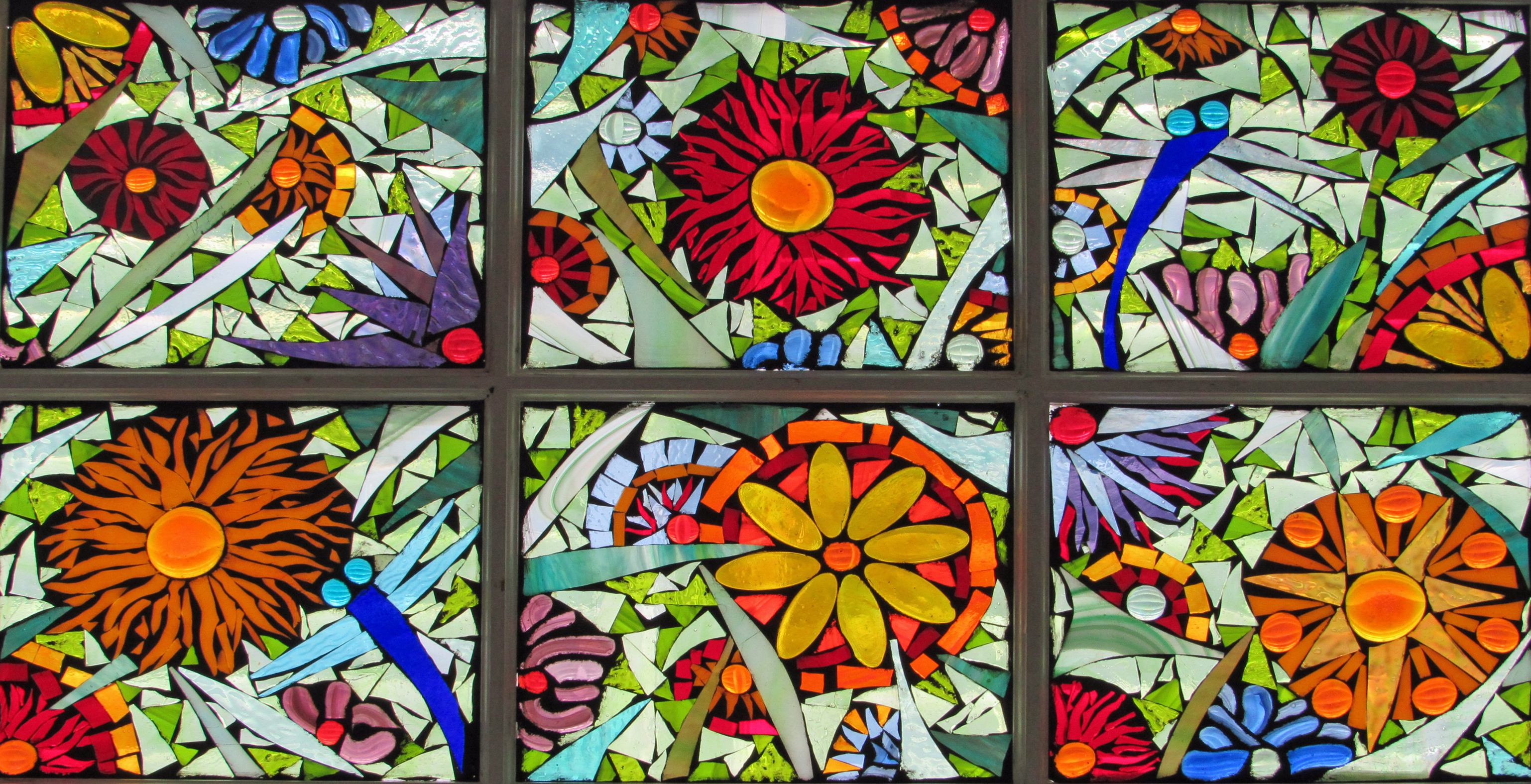 garden mosaic window