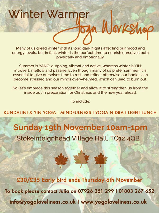 Winter Warmer Yoga Workshop