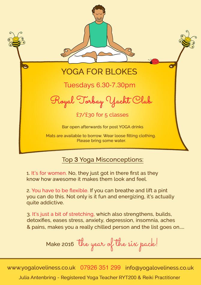 Yoga for Blokes - new start time 6.30pm
