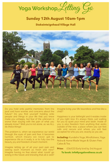 Next Yoga Workshop Sunday 12th August