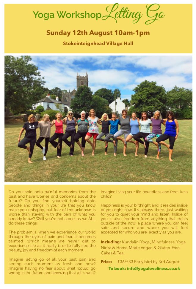Next Yoga Workshop Sunday 12th August