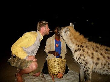 man-feeding-heyna-harar-eastern-ethiopia