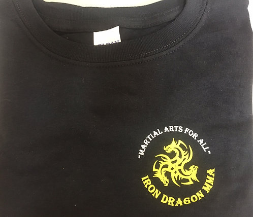 Black Iron Dragon MMA T-shirt (Adult L)