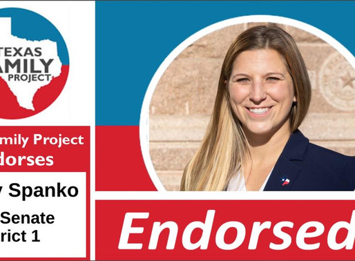 Texas Family Project Endorses Audrey Spanko for Texas Senate District 1