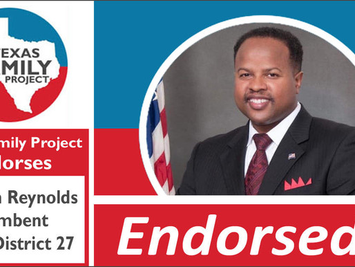 Texas Family Project Endorses Ron Reynolds for Texas House District 27