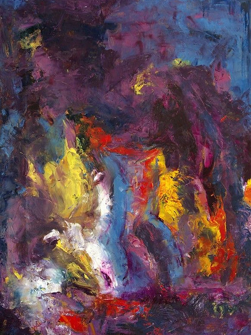 Abstract Art Colorful - Indian dance