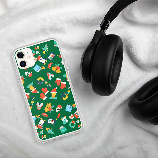 New Year Christmas Theme Green iPhone Cases1