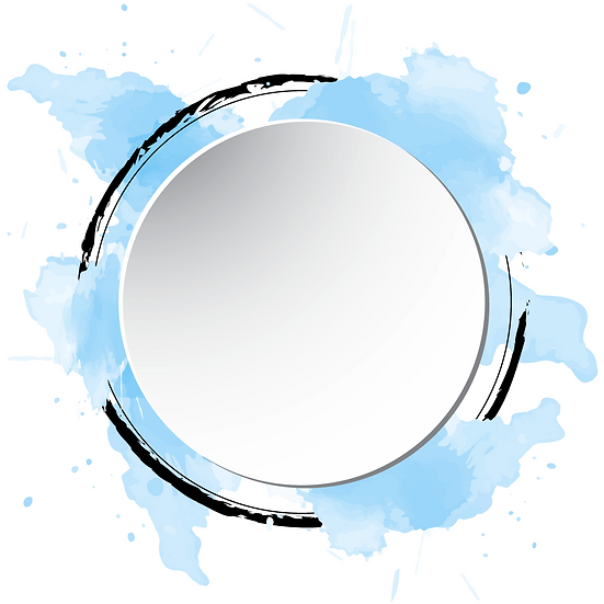Awesome Circle with Watercolor Splash - Free PNG Images,Instant Download