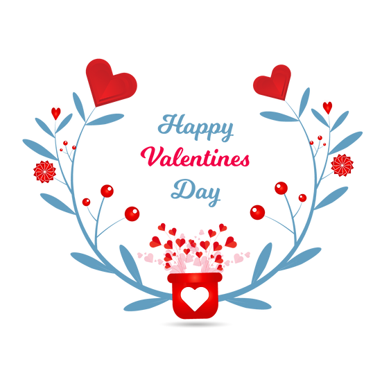 Happy Valentine's Day Awesome Frame PNG Transparent Image - Instant Download