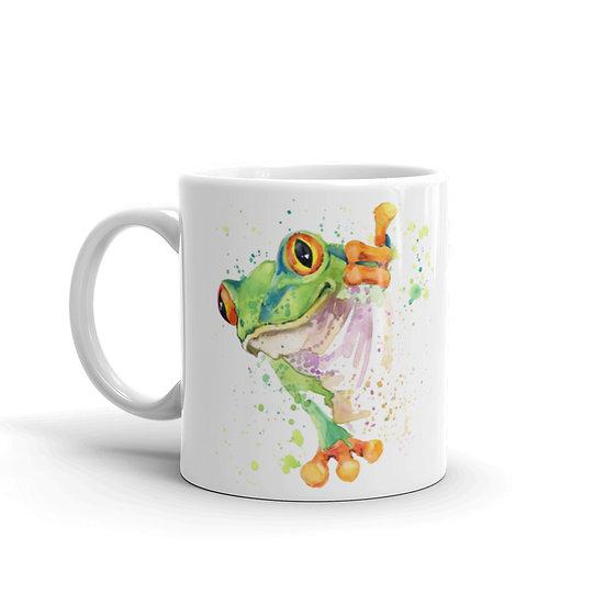 Watercolor Frog Coffee Cup Mug for Coffee / Tea White Ceramic Mugs 11/15 oz1