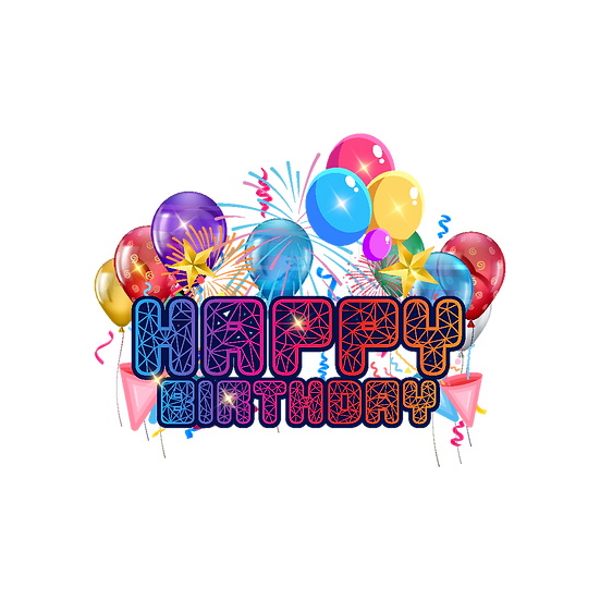 Happy Birthday Beautiful Clipart - PNG Transparent Image - Digital Download