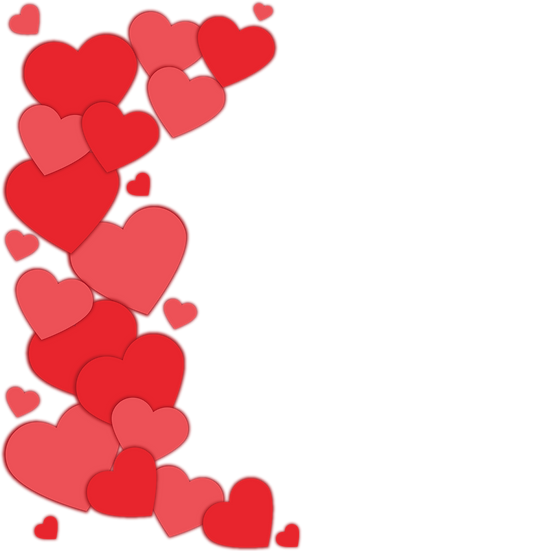 Stunning Hearts Clipart - Free PNG Images, Transparent Image Digital Download