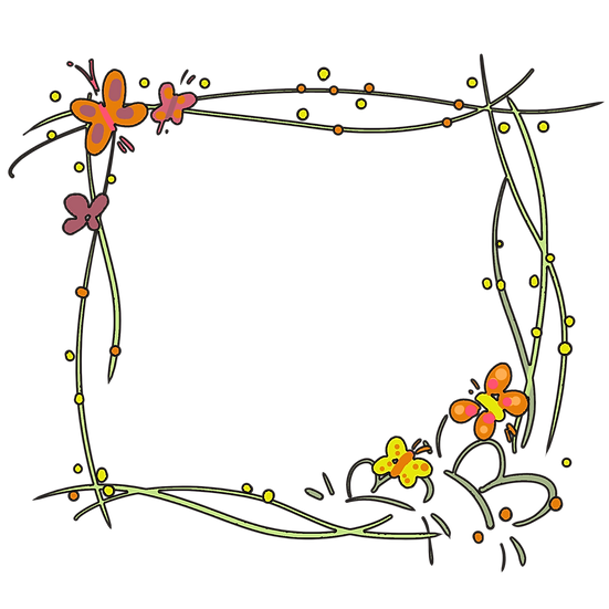 Adorable Frame with Butterflies - Free PNG Transparent Image, Instant Download