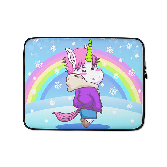 Unicorn and Rainbow Snow Laptop Sleeve for MacBook, HP, ACER, ASUS, Dell, Lenovo