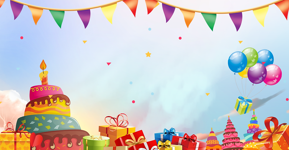 Colorful Birthday Background - Free PNG Images, Instant Download