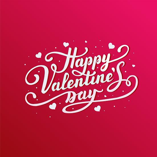 Happy Valentine's Day Amazing Inscription - Transparent Image - Instant Download