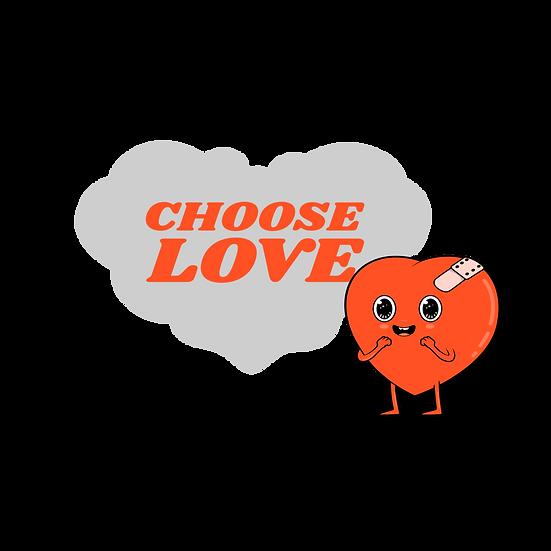 Choose Love - Free PNG Heart Images, Transparent Image Instant Download
