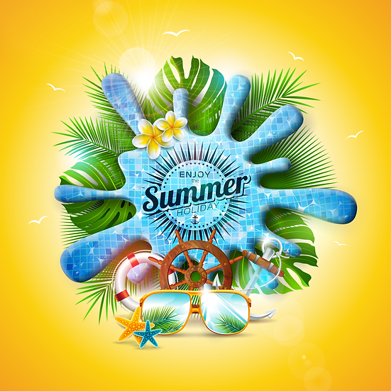 Enjoy The Summer Holiday Greeting Card - Free PNG Images, Instant Download