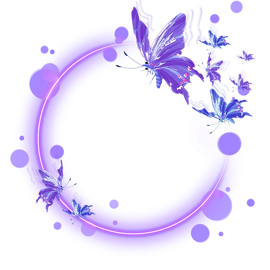 Butterfly Round Frame - Free PNG Images, Transparent Image Digital Download