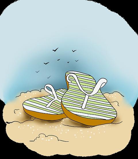 Flip Flops Clipart - Free Summer PNG Images, Transparent Image Digital Download