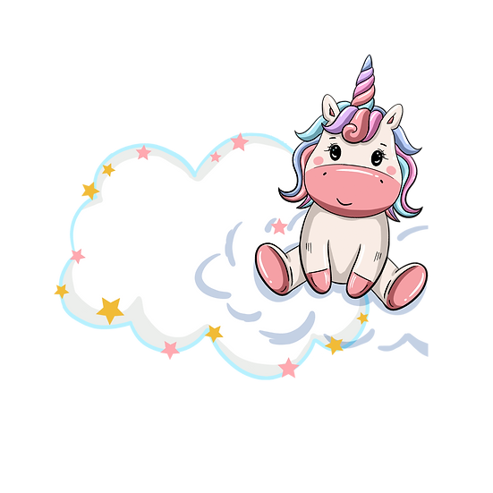 Unicorn Sitting on the Cloud - Free PNG Transparent Image, Instant Download