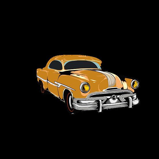 Vintage Car Clipart - Free PNG Images, Transparent Image Instant Download