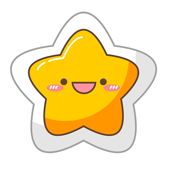Cute Star Clipart - Free PNG Images, Transparent Image Digital Download