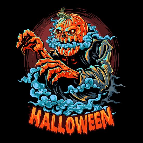 Halloween Nightmare Pumpkin Printables PNG Image  - Editable / Downloadable