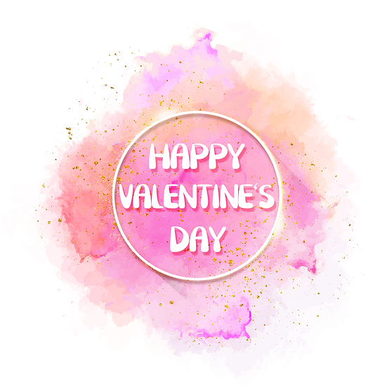 Happy Valentine's Day Beautiful Greeting Card - PNG Image - Instant Download