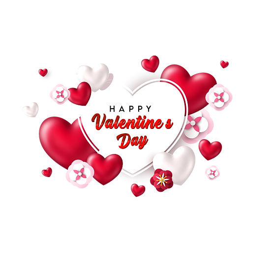 Happy Valentine's Day Heart-Shaped Greeting Card PNG Image - Instant Download