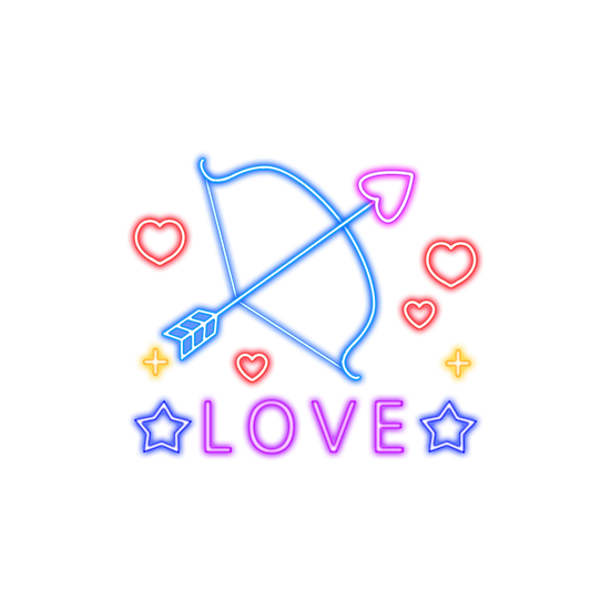 Neon Bow and Arrow - Free PNG Images, Transparent Image Instant Download