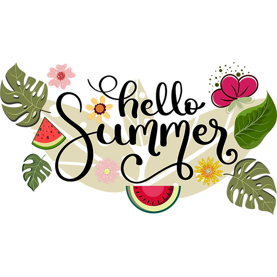Bright Summer Clipart - Free PNG Images, Transparent Image Digital Download