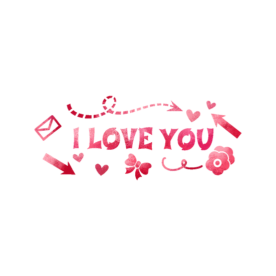 I Love You - Beautiful Clipart - Valentine's Day PNG Image - Instant Download