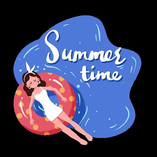 Summer Time Clipart - Free PNG Images, Transparent Image Instant Download