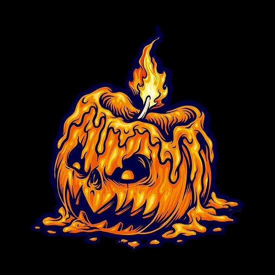 Horrible Halloween Candle Pumpkin Printables PNG Image  - Editable Downloadable