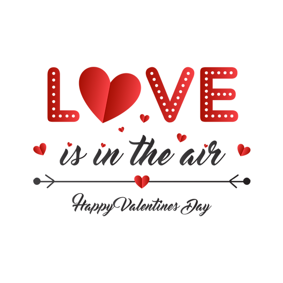 Love is in the Air - Valentine's Day PNG Transparent Image - Instant Download