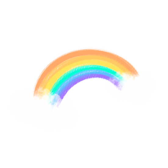 Rainbow with Clouds - Free PNG Images, Transparent Image Digital Download