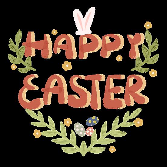 Great Easter Clipart - Easter PNG Transparent Image - Instant Download