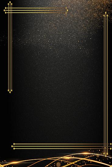 Black Gold Invitation Background - Free PNG Images, Digital Download