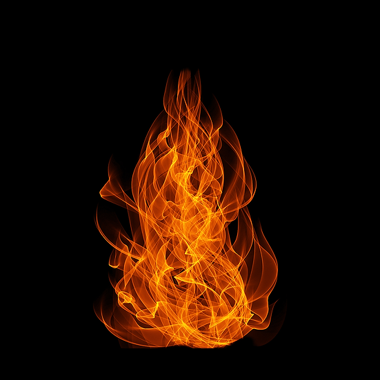 Fire Flame Black Background - Free PNG Fire Images,Instant Download