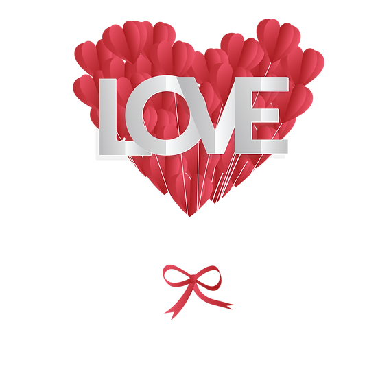 Heart-Shaped Paper Balloons - Free PNG Image, Transparent Image Digital Download