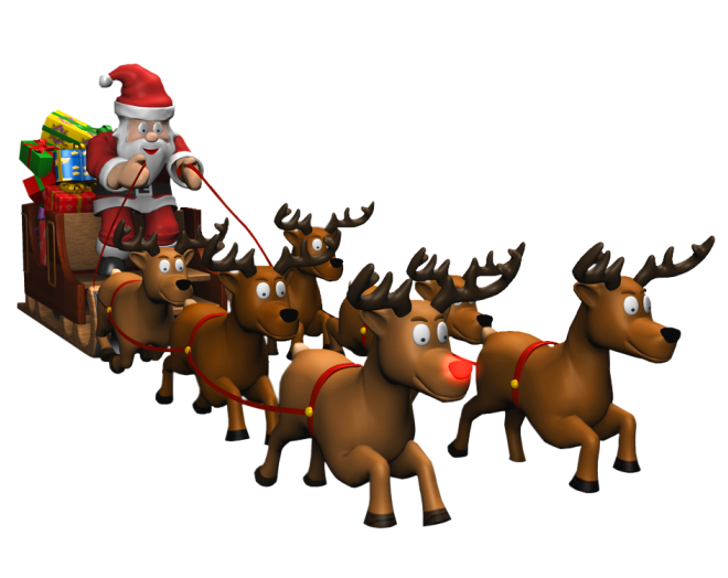 Santa Coming to Town Free PNG Images - Free Digital Image Download