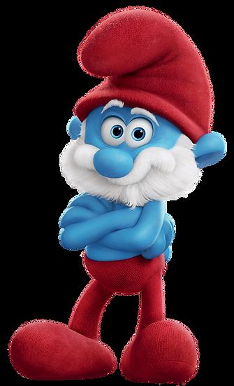Christmas Papa Smurf Free PNG Images - Free Digital Image Download