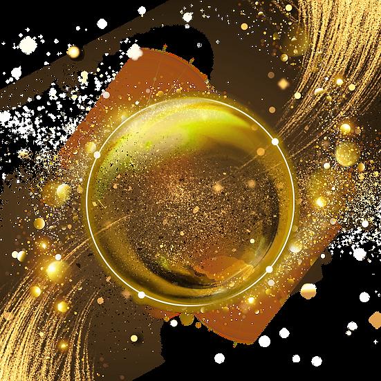 Festive Golden Circle - Free PNG Images, Transparent Image Instant Download
