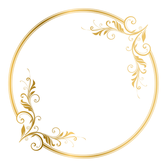 Golden Circle with Ornament - Free PNG Image, Transparent Image Digital Download