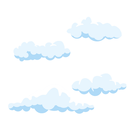 Soft White Clouds Clipart - Free PNG Images, Transparent Image Instant Download
