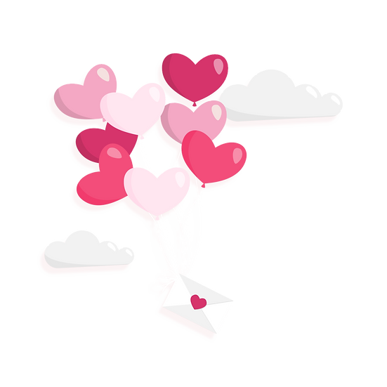 Heart Balloons with Letter - Free PNG Images, Transparent Image Digital Download